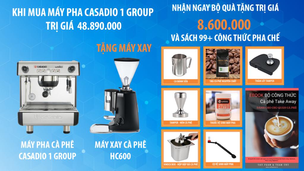 Combo Máy Pha Cafe Casadio